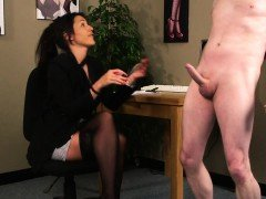 Classy voyeur teases and instructs with joi