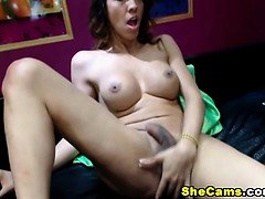Sexy big tits shemale got her ass railed with hard shaft