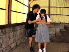 Japanese teen giving a hot blowjob Maid