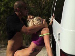 Bad girl punished and brutal dildo deep Halle Von is in