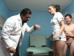 Cuckold humiliation scene in hospital- More On HDMilfCam com