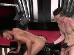 Male fist fuck gay xxx Aiden Woods is on his back and