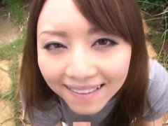 Pov of gorgeous japanese girl playing with biggest knob