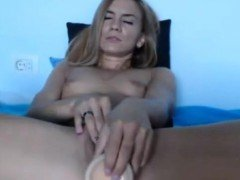 Sexy blonde webcam masturbation