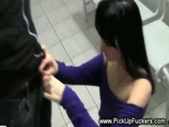 Rest stop slut has no problem sucking cocks for cash