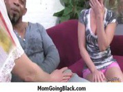 Interracial porn MILF babe gets nailed by big cock black dude 29