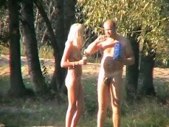 Naughty milf public nudity and outdoor amateur