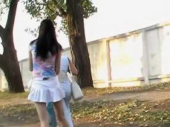 Asian upskirt voyeur action