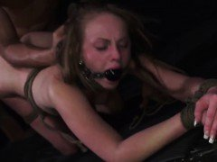 Extreme rough teen dp and asshole slave Lizzie Bell went