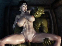 3D Hentai Two Orcs find some Sexy Milf and get her creampied