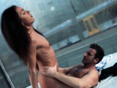 Hot Nataly Gold Gives a Handjob to a Stranger
