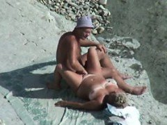 VOYEUR ON THE BEACH 7 couple fuck on the beach