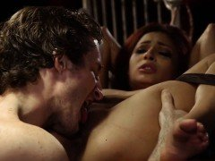 Slave brutal gangbang Poor tiny Jade Jantzen, she just