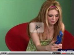 Cute blonde enjoys Dildo