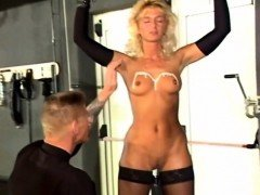 BDSM fetish blonde sub Darling makes out