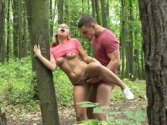 Wild Babe Amy Red Has Outdoor Sex With Lover