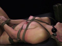 Girl dominates with strap on He agrees to help and she