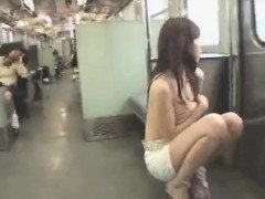 MILF To Undressed On Train In Public - More On HDMilfCam.com