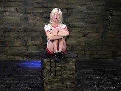 Sex slave tied up and fucked extreme hot wax punishment