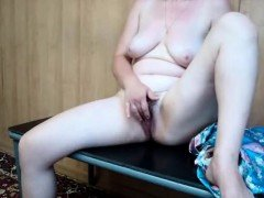 Chubby slut playing with her pussy on webcam