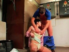 Man gets tied up and completely dominated by a sexy doxy