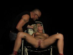 Filthy blonde enjoys hard BDSM session