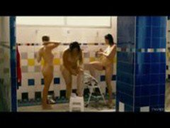 Michelle Williams, Sarah Silverman and Jennifer Podemski naked in the shower