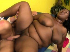 BBW black chick is penetrated nicely
