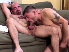 Horny daddies suck each other off