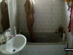 Indian sister filmed in the shower
