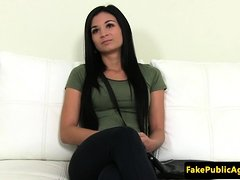 Beautiful euro banged at casting audition
