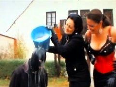 Slave Cleans Car Then Mistress Boots See pt2 at goddessheels
