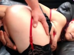 Nasty amateur wife fucked in the ass on cam
