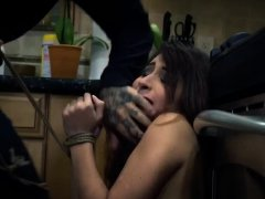 Rough strap on fuck and insane brutal Poor Jade Jantzen.
