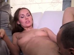 Cute Russian Cuckold Gf Takes Dick