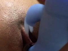 Close up pussy masturbation While Alone at home
