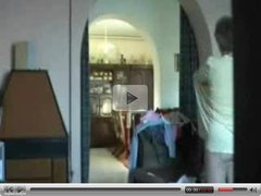 Hidden cam caught mummy fully nude home alone