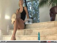 Blonde Masturbating On The Stairs