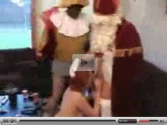 HomeMade video  Amateur teen  sucks Santa