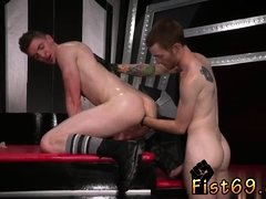 Boy self fisting trick gay Slim and smooth ginger hunk