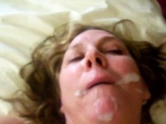 Horny Blonde BBW slut gets fucked and fed