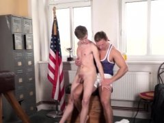 Aroused twink jerks off until he cums
