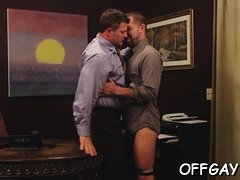 Gay co workers sharing knob engulfing moments on web camera