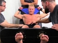 Long hair male gay porn star Johnny Gets Tickled Naked
