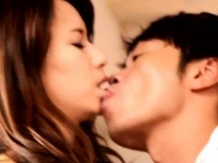 Asian lover Nami Aino bends over and takes him inside