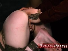 Face fart punishment and slave fuck machine first time