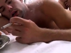 Gay body hair removal and grabbing male butt porn Wesley