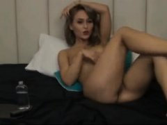 Amateur webcam jerk off on my girlfriend while i watch