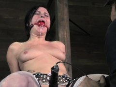 Stocking sub punished with bastinado and toy
