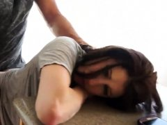 Naughty teen babe Alison De Vore smashed by her stepdad
